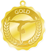 Gold-Preschool Program Medals
