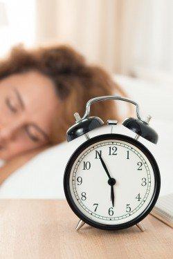 Beautiful Happy Woman Sleeping In Her Bedroom In The Morning